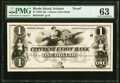 Obsoletes By State:Rhode Island, Scituate, RI- Citizens Union Bank $1 18__ G6 as Durand 2104 Proof PMG Choice Uncirculated 63.. ...