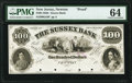 Obsoletes By State:New Jersey, Newton, NJ- Sussex Bank $100 18_ G54 Wait 1781 Proof PMG Choice Uncirculated 64.. ...