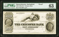 Obsoletes By State:Massachusetts, Springfield, MA- Chicopee Bank $100 18__ G100 Proof PMG Choice Uncirculated 63.. ...