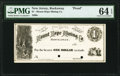 Obsoletes By State:New Jersey, Rockaway, NJ- Mount Hope Mining Co. $1 186_ Wait 2131 Proof / Printer's Specimen PMG Choice Uncirculated 64 EPQ.. ...