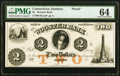 Obsoletes By State:Connecticut, Danbury, CT- Wooster Bank $2 18__ as G4 Proof PMG Choice Uncirculated 64.. ...