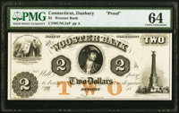 Danbury, CT- Wooster Bank $2 18__ as G4 Proof PMG Choice Uncirculated 64
