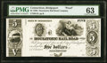 Bridgeport, CT- Housatonic Rail Road Company $5 18__ G18 Proof PMG Choice Uncirculated 63