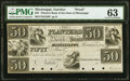 Natchez, MS- Planters Bank of the State of Mississippi, payable in Philadelphia $50 18__ G212 as Kraus 4112 Proof PMG Ch...