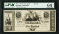 Obsoletes By State:New York, New York, NY- Chelsea Bank $100 18__ as G16 Proof PMG Choice Uncirculated 64.. ...