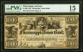 Jackson, MS- Mississippi Union Bank $1000 Post Note May 1, 1839 G46 Kraus 3716g PMG Choice Fine 15