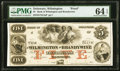 Obsoletes By State:Delaware, Wilmington, DE- Bank of Wilmington and Brandywine $5 18__ as G60 Proof PMG Choice Uncirculated 64 EPQ.. ...