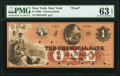 Obsoletes By State:New York, New York, NY- Chemical Bank $1 18__ as G82 Proof PMG Choice Uncirculated 63 EPQ.. ...