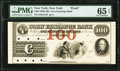 Obsoletes By State:New York, New York, NY- Corn Exchange Bank $100 18__ as G14 Proof PMG Gem Uncirculated 65 EPQ.. ...