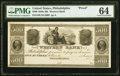 Obsoletes By State:Pennsylvania, Philadelphia, PA- Western Bank of Philadelphia $500 18__ as G34 as Hoober 305-642 Proof PMG Choice Uncirculated 64.. ...