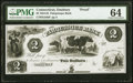 Obsoletes By State:Connecticut, Danbury, CT- Pahquioque Bank $2 18__ G34b Proof PMG Choice Uncirculated 64.. ...