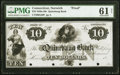 Obsoletes By State:Connecticut, Norwich, CT- Quinebaug Bank $10 18__ as G20 Proof PMG Uncirculated 61 Net.. ...