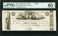 New York, NY- Bank of New York $5 18__ G90 Proof PMG Gem Uncirculated 65 EPQ