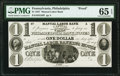 Obsoletes By State:Pennsylvania, Philadelphia, PA- Manual Labor Bank $1 18__ as G50 as Hoober 305-355 Proof PMG Gem Uncirculated 65 EPQ.. ...
