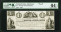 Allentown, PA- Borough of Northampton $1 Oct. 30, 1837 Hoober 9-27 Proof PMG Choice Uncirculated 64 EPQ