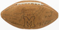 Autographs:Others, 1971 Michigan Team Signed Football. Offered is a ...
