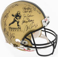 Autographs:Others, Multi-Signed Heisman Helmet. Offered is a full-siz...