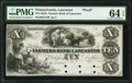 Obsoletes By State:Pennsylvania, Lancaster, PA- Farmers Bank of Lancaster $10 18__ G74 Hoober H186-20 Proof PMG Choice Uncirculated 64 EPQ.. ...