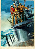 Movie Posters:War, Submarine Command by Averardo Ciriello (Paramount, 1951). Fine+. Signed Original Italian Gouache Poster Artwork on Paper (23...