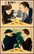 Movie Posters:Mystery, The Thin Man (MGM, 1934). Fine. Lobby Cards (2) (1...