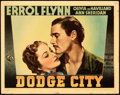 "Movie Posters:Western, Dodge City (Warner Bros., 1939). Fine/Very Fine. Linen Finish Lobby Card (11"" X 14"").. ..."