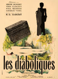 "Movie Posters:Foreign, Les Diaboliques (Cinedis, 1955). Fine+ on Linen. French Moyenne (23.5"" X 31.5"") Raymond Gid Artwork.. ..."