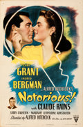 Movie Posters:Hitchcock, Notorious (RKO, 1946). Folded, Very Fine-. One She...