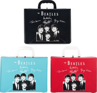The Beatles Air Flite Three Vinyl Carrying Cases Light Blue, Red and Black (3) (1964). ... (Total: 3 Items)