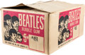 Music Memorabilia:Memorabilia, The Beatles Topps Bubble Gum Empty Shipping Box (US, 1964)....