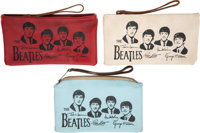 The Beatles Vinyl Clutch Purse Assortment (3) (By Dame-1964). ... (Total: 3 Items)