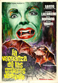Movie Posters:Foreign, The Vengeance of the Vampire Women by Emerio (Tusisa, 1970). Very Fine. Signed Original Spanish Mixed Media Poster Ar...