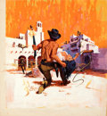 Movie Posters:Western, A Stranger in Town by Jack Thurston (MGM, 1968). Very Fine. Original Mixed Media Concept Artwork on Illustration Board (22.2...