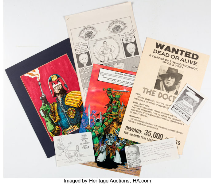 Memorabilia:Comic-Related, Dave Dorman, Dave Sim, Neal Adams, and Others - Portfolios and Prints Group of 12 (Various Publishers, c. 1980-90s).....