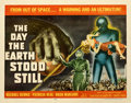 "Movie Posters:Science Fiction, The Day the Earth Stood Still (20th Century Fox, 1951). Very Good on Paper. Half Sheet (22"" X 28"").. ..."