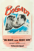 """Movie Posters:Film Noir, To Have and Have Not (Warner Bros., 1944). Fine/Very Fine on Linen. One Sheet (27.75"""" X 41"""").. ..."""