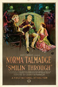 """Movie Posters:Drama, Smilin' Through (First National, 1922). Very Fine- on Linen. One Sheet (27.25"""" X 41"""") Trio Style.. ..."""