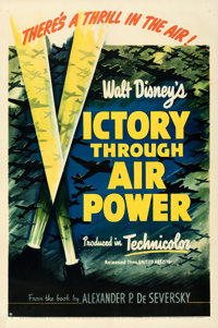 "Victory Through Air Power (United Artists, 1943). Fine/Very Fine on Linen. One Sheet (27"" X 41"")"