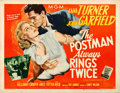 "Movie Posters:Film Noir, The Postman Always Rings Twice (MGM, 1946). Fine/Very Fine on Linen. Half Sheet (22"" X 28"") Style A.. ..."