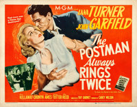 """The Postman Always Rings Twice (MGM, 1946). Fine/Very Fine on Linen. Half Sheet (22"""" X 28"""") Style A"""