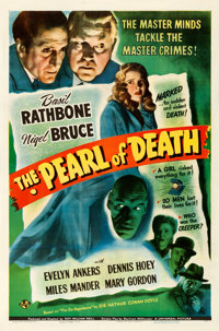 """The Pearl of Death (Universal, 1944). Fine- on Linen. One Sheet (27"""" X 41"""")"""