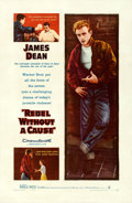 """Movie Posters:Drama, Rebel Without a Cause (Warner Bros., 1955). Fine/Very Fine on Linen. One Sheet (27"""" X 41"""").. ..."""
