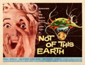"Movie Posters:Science Fiction, Not of This Earth (Allied Artists, 1957). Very Fine- on Paper. Half Sheet (22"" X 28"").. ..."