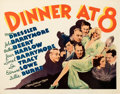 Movie Posters:Comedy, Dinner at Eight (MGM, 1933). Fine on Paper. Half S...