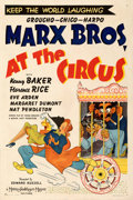 "Movie Posters:Comedy, At the Circus (MGM, 1939). Fine/Very Fine on Linen. One Sheet (27.5"" X 41"") Style D. Al Hirschfeld Artwork.. ..."