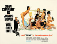 """You Only Live Twice (United Artists, 1967). Very Fine on Linen. British Quad (31"""" X 40.5"""") Style C. Robert McG..."""