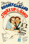 "Movie Posters:Musical, Strike Up the Band (MGM, 1940). Fine/Very Fine on Linen. Autographed One Sheet (27.25"" X 41.25"") Style D.. ..."