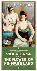 """Movie Posters:Drama, The Flower of No-Man's Land (Columbia, 1916). Good+ on Linen. Three Sheet (42"""" X 80.5"""").. ..."""