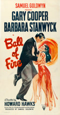 "Movie Posters:Comedy, Ball of Fire (RKO, 1941). Fine/Very Fine on Linen. Three Sheet (41"" X 79.5"").. ..."