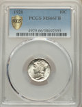 1920 10C MS66 Full Bands PCGS. PCGS Population: (139/44). NGC Census: (49/18). CDN: $450 Whsle. Bid for NGC/PCGS MS66. M...