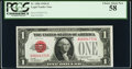 Low Serial Number 4773 Fr. 1500 $1 1928 Legal Tender Note. PCGS Choice About New 58